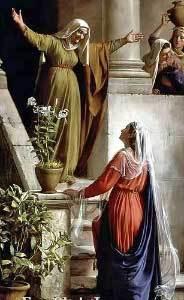 The Visitation - Elizabeth greeting Mary
