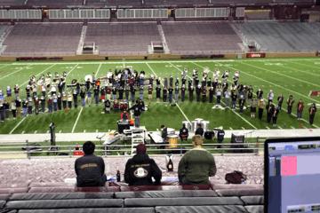 Recording Boston College Marching Band at Alumni Stadium