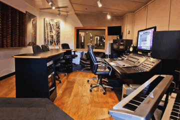 Cybersound Studios John Andaloro mixing room in Boston