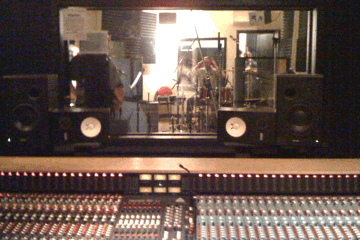 Studio picture from Salty Side Down recording Session