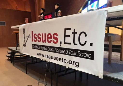 A banner promoting Lutheran Public Radio's Issues, Etc. program