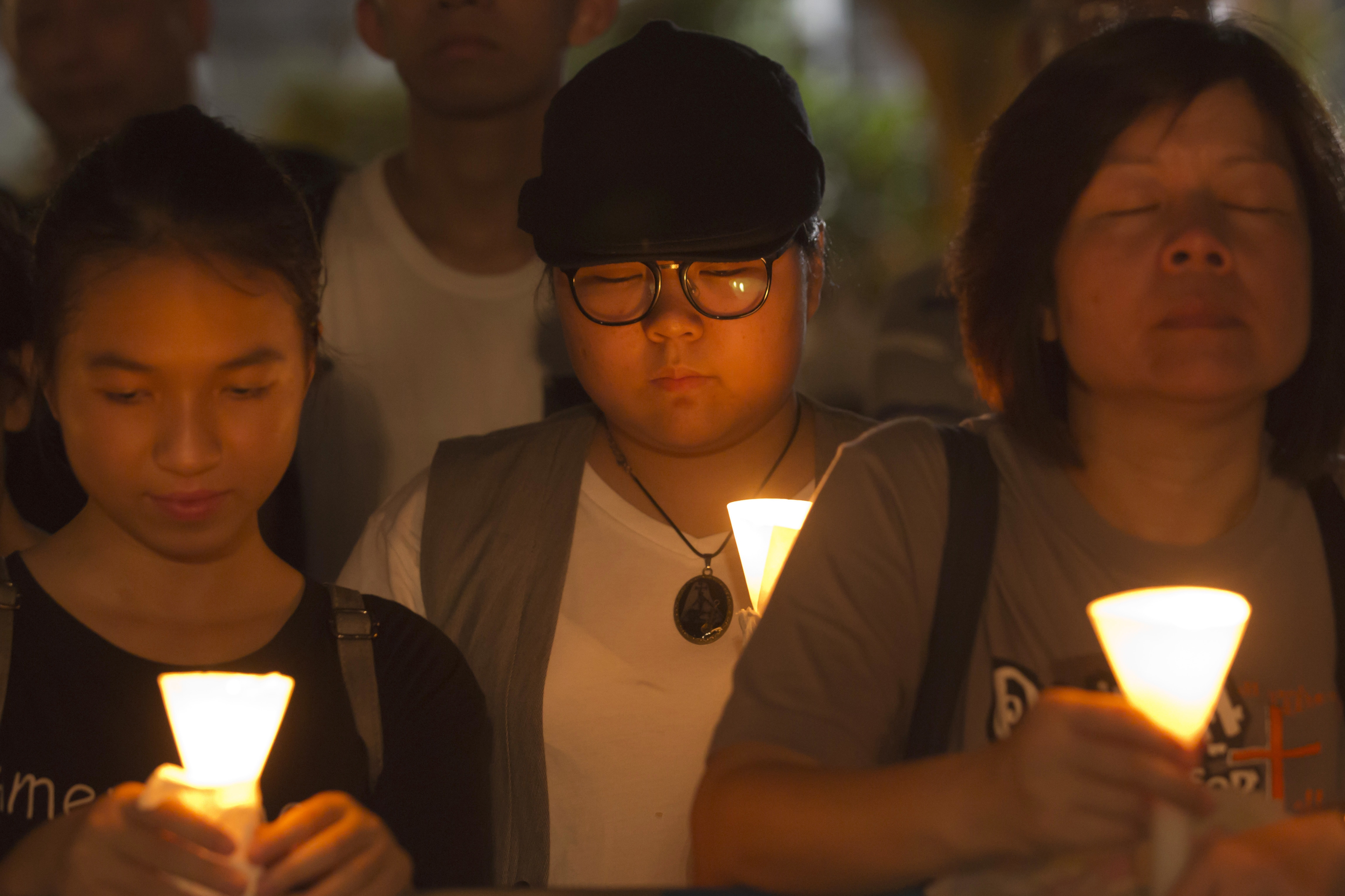 An annual vigil in Hong Kong in 2018 marking the anniversary of the Tiananmen Square massacre
