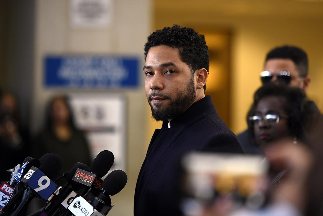 Jussie Smollett at Cook County Court on Tuesday