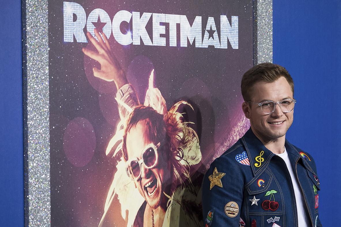 Taron Egerton, who plays Elton John in the film Rocketman, at the New York premiere on May 29