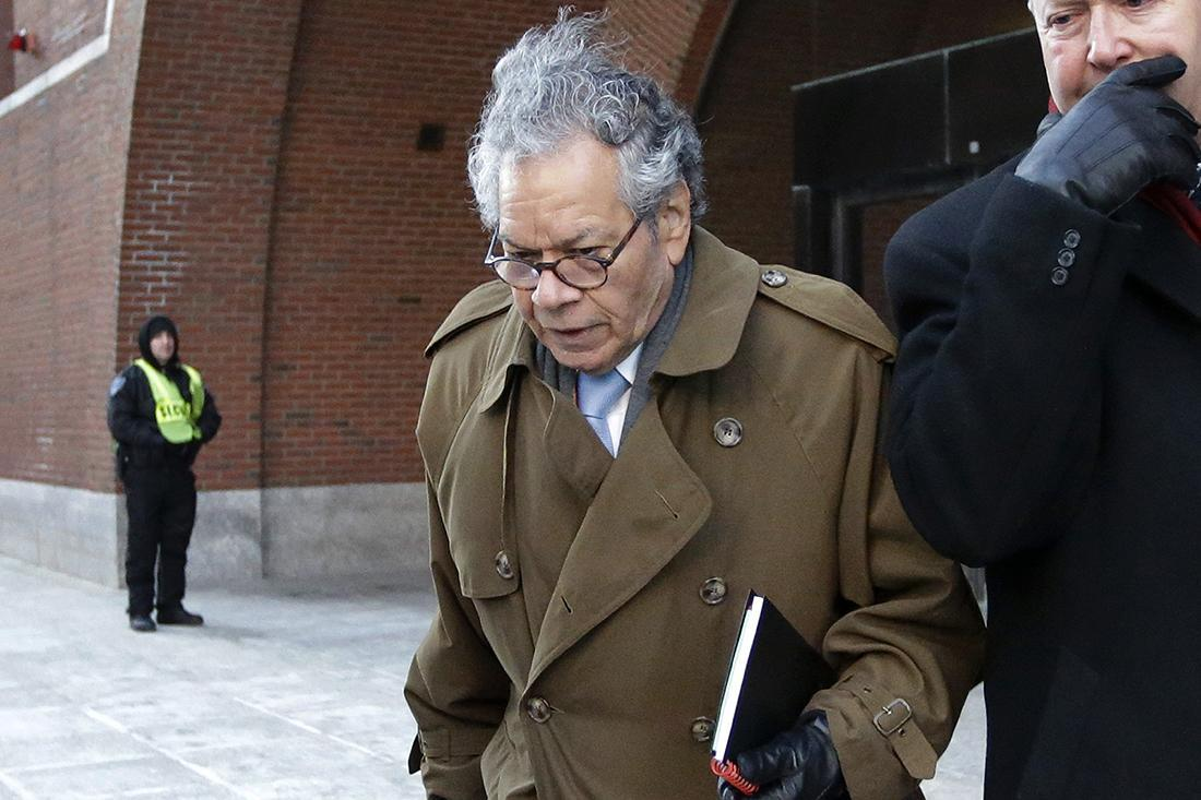 Insys Therapeutics founder John Kapoor leaves federal court in Boston.
