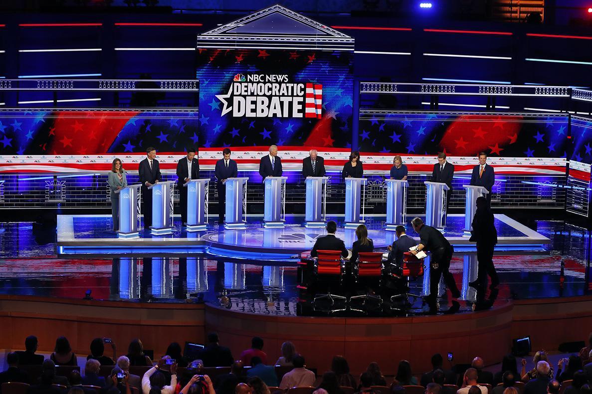 Ten Democratic candidates debate in Miami on June 27.