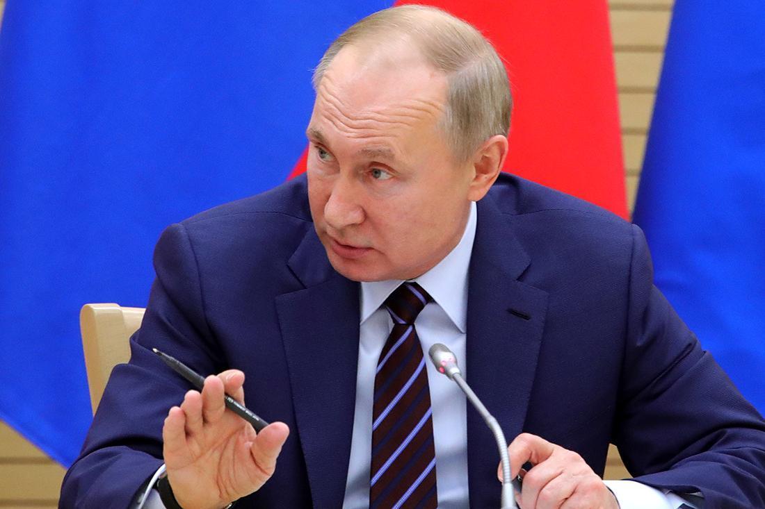 Russian President Vladimir Putin at the Novo-Ogaryovo residence outside Moscow, Russia, on Thursday