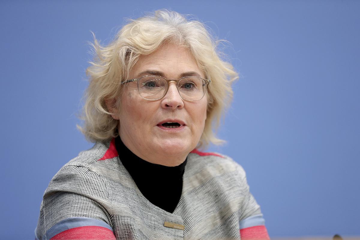 German Justice Minister Christine Lambrecht