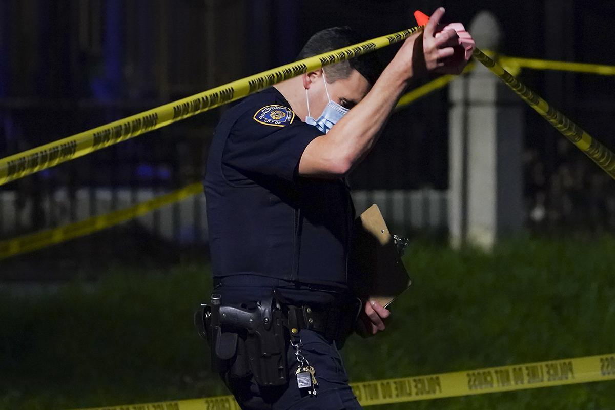 A police officer in Queens, N.Y.