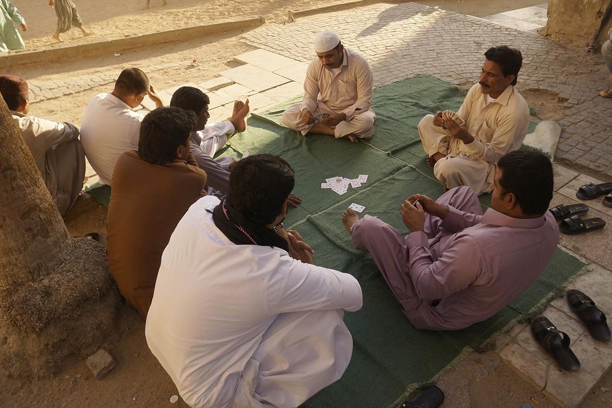 Workers during a holiday in Jiddah, Saudi Arabia