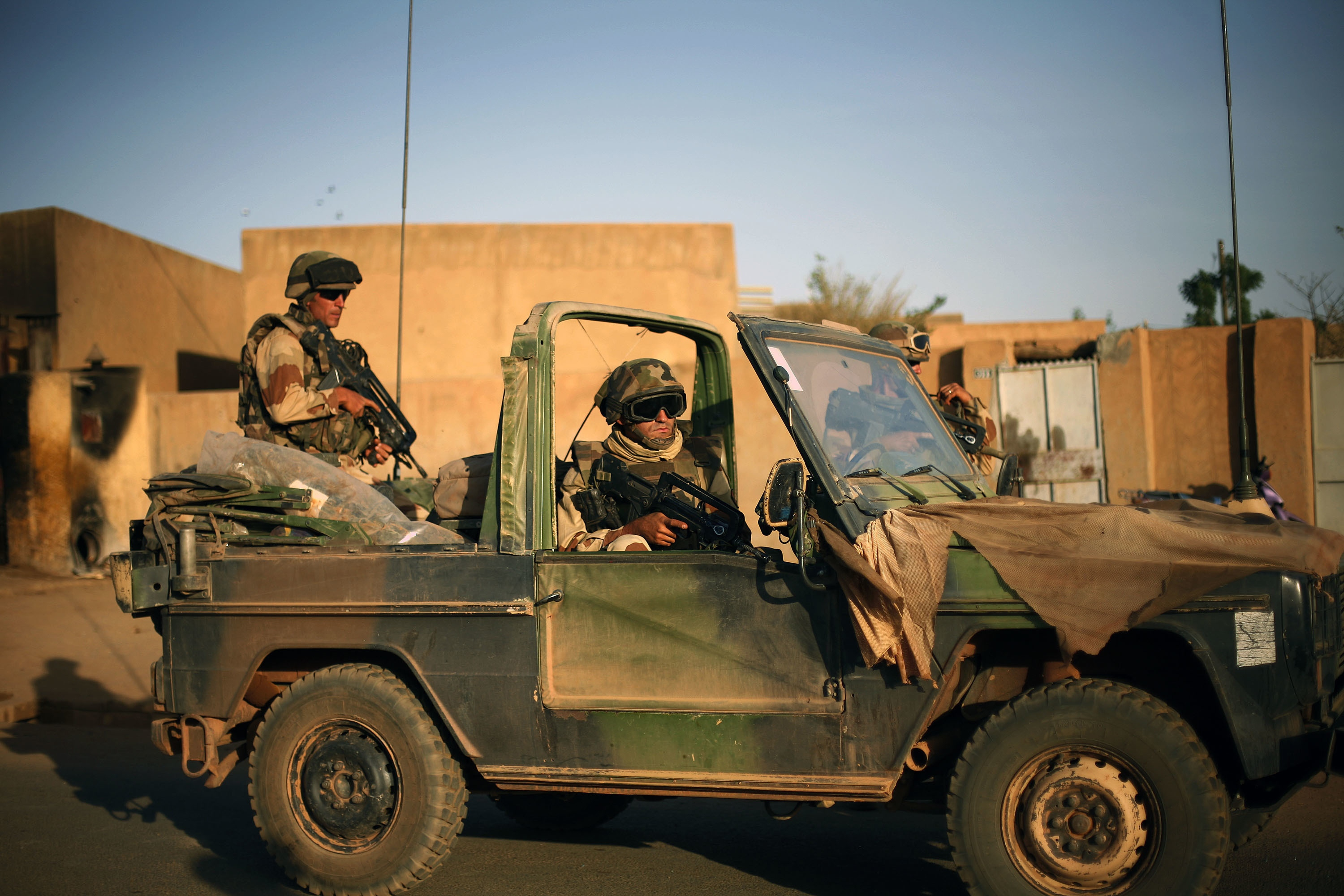 French soldiers in Gao, Mali