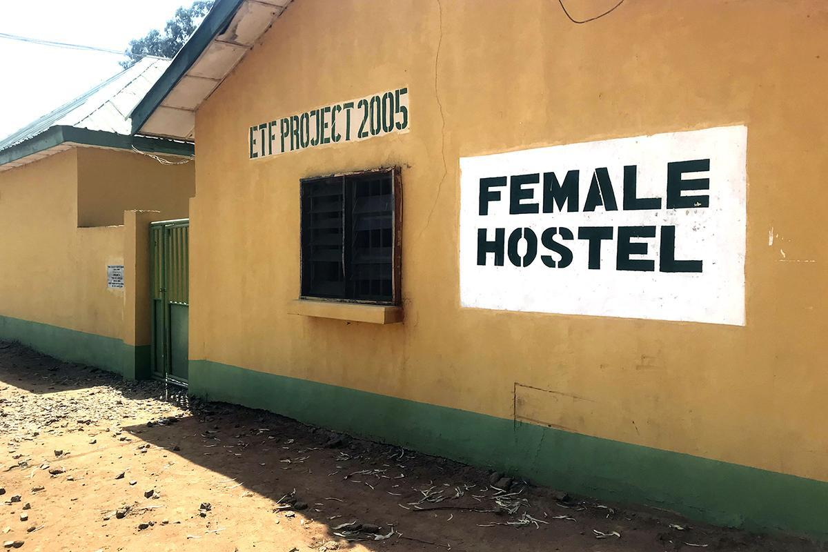 An empty female hostel at the Federal College of Forestry Mechanization in Afaka Nigeria, on March 12