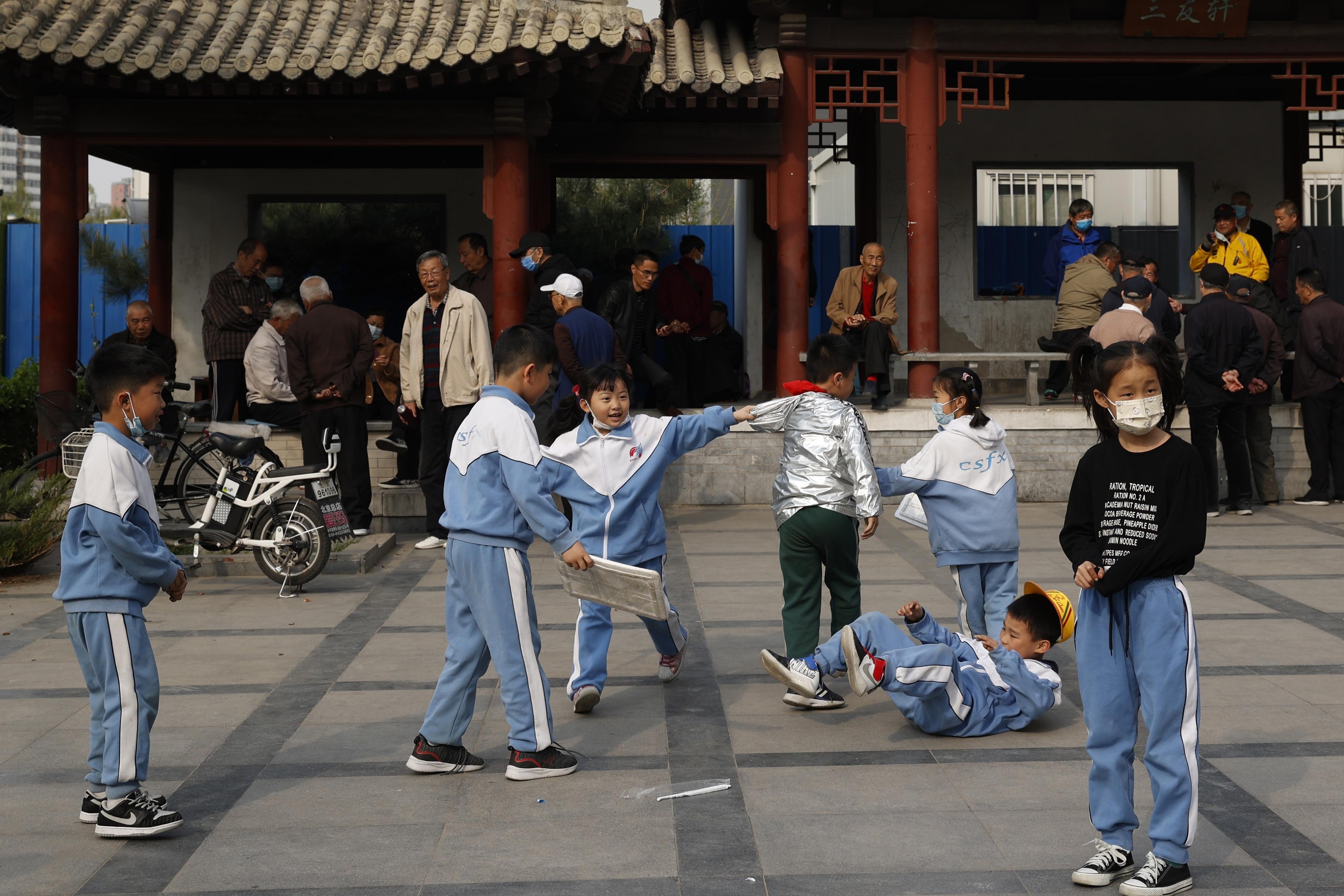 Children play in Beijing.