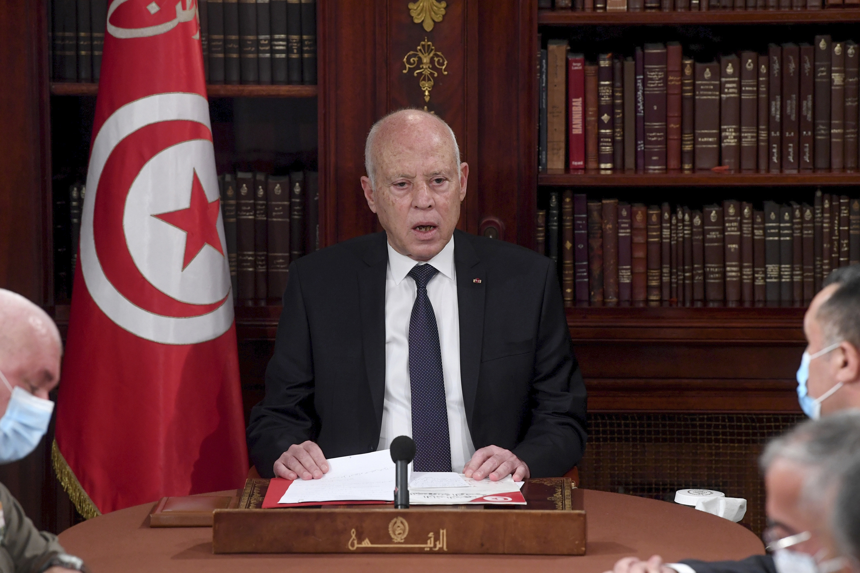 President Kais Saied in Tunis, Tunisia, on July 25.