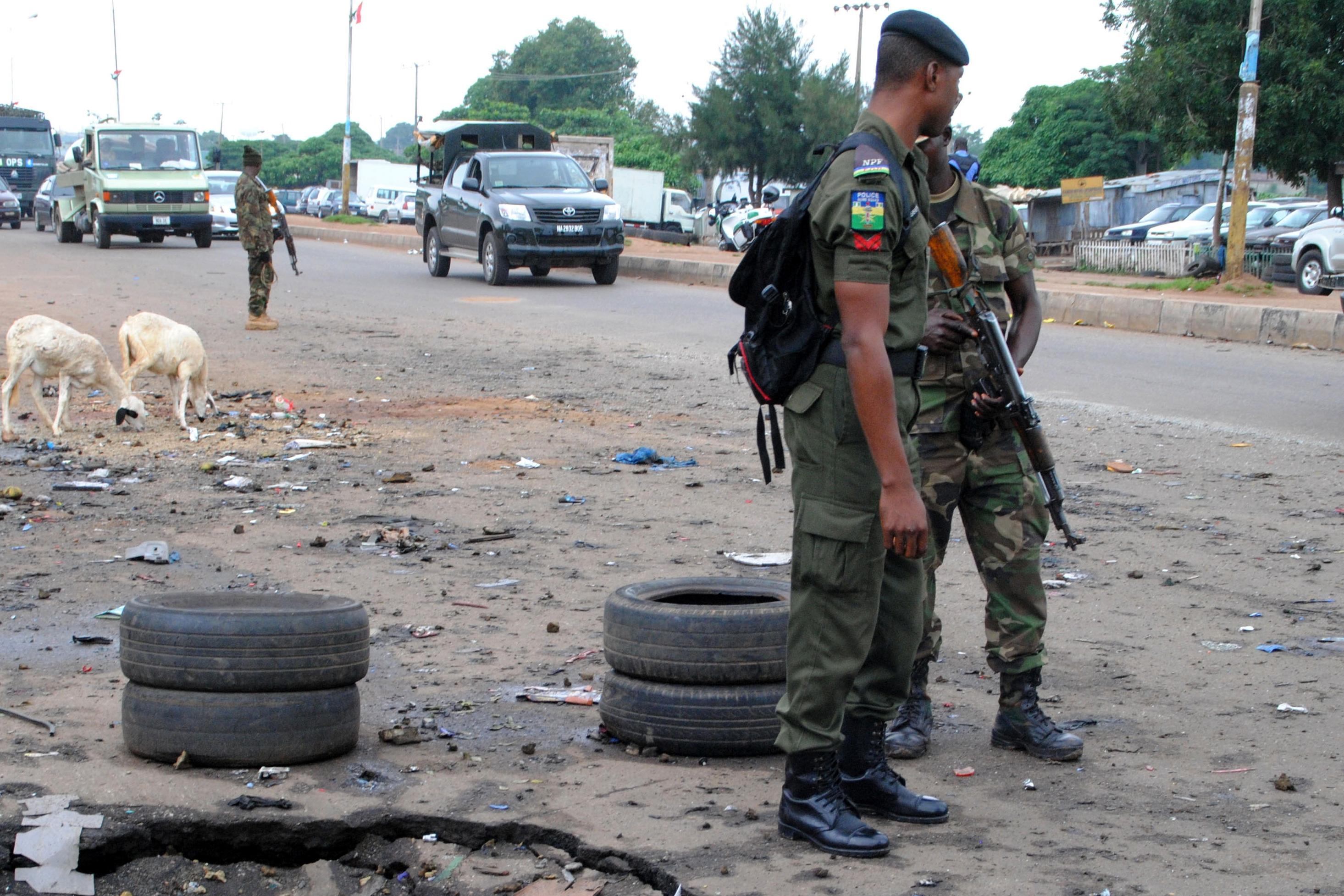 Police officers in Kaduna, Nigeria