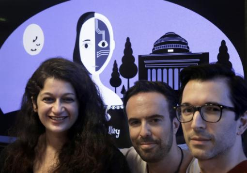 "MIT's ""Shelley"" creators (from left): Pinar Yanardag, Manuel Cebrian, and Iyad Rahwan"