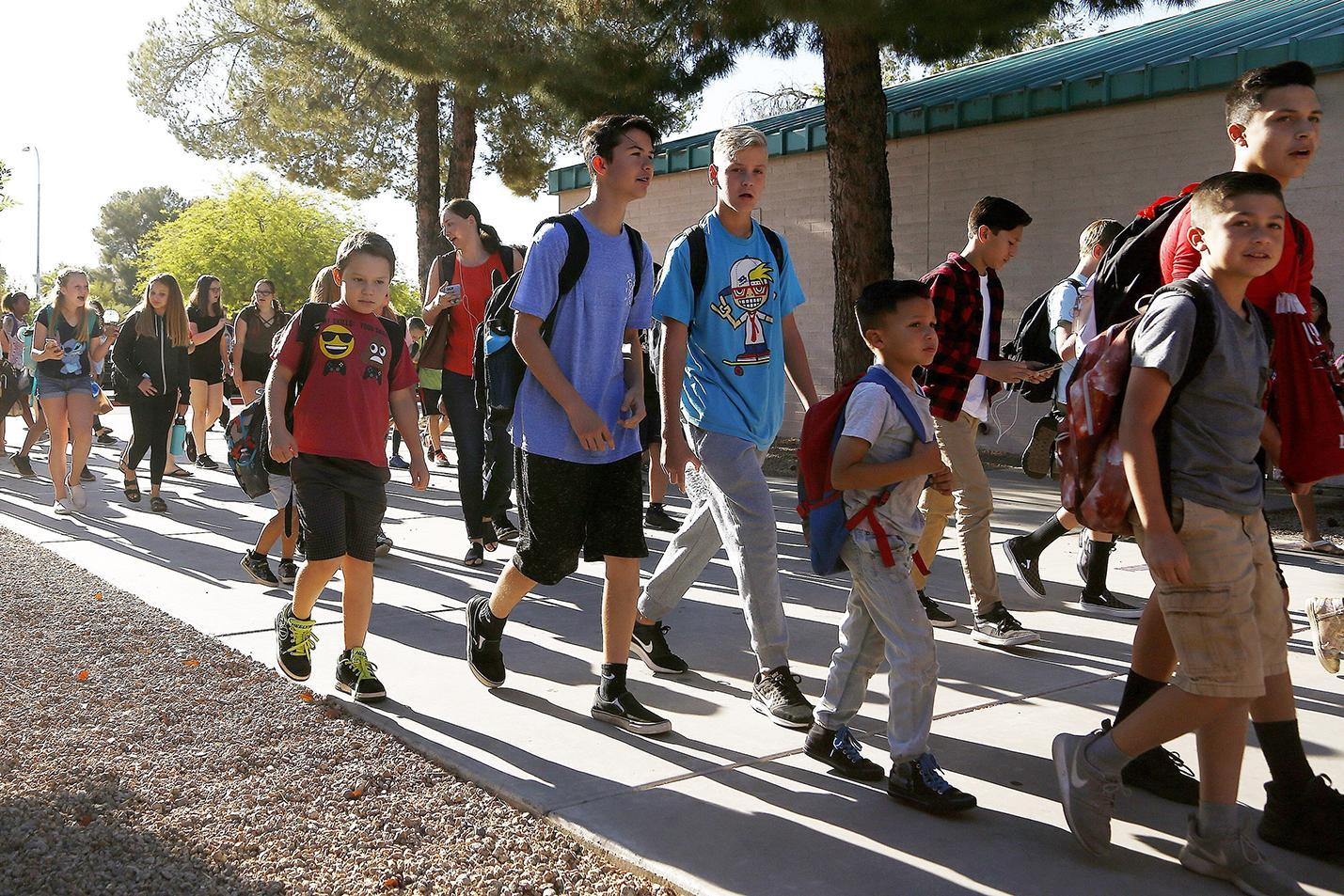 Arizona students returning to school after a teacher strike ended in May