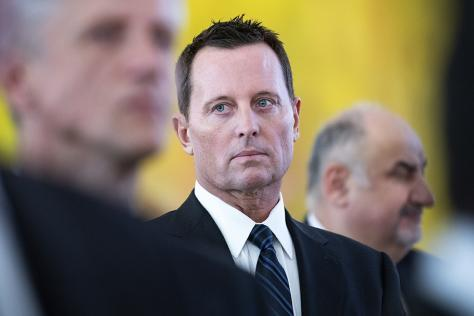 U.S. Ambassador to Germany Richard Allen Grenell at the presidential palace in Berlin on Jan. 14