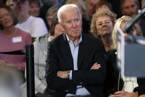 Former Vice President Joe Biden in Mason City, Iowa, last week