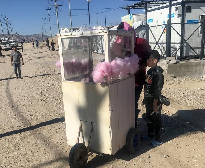 The Bardarash refugee camp in Iraq