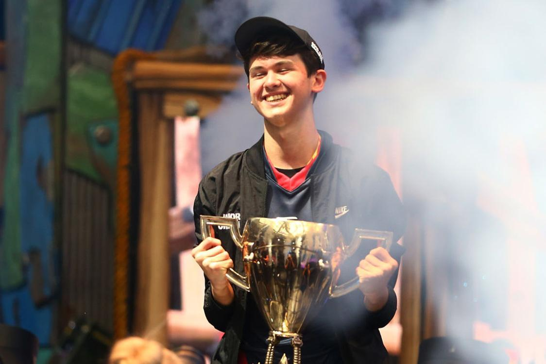 Kyle Giersdorf after winning the Fortnite World Cup solo on July 28