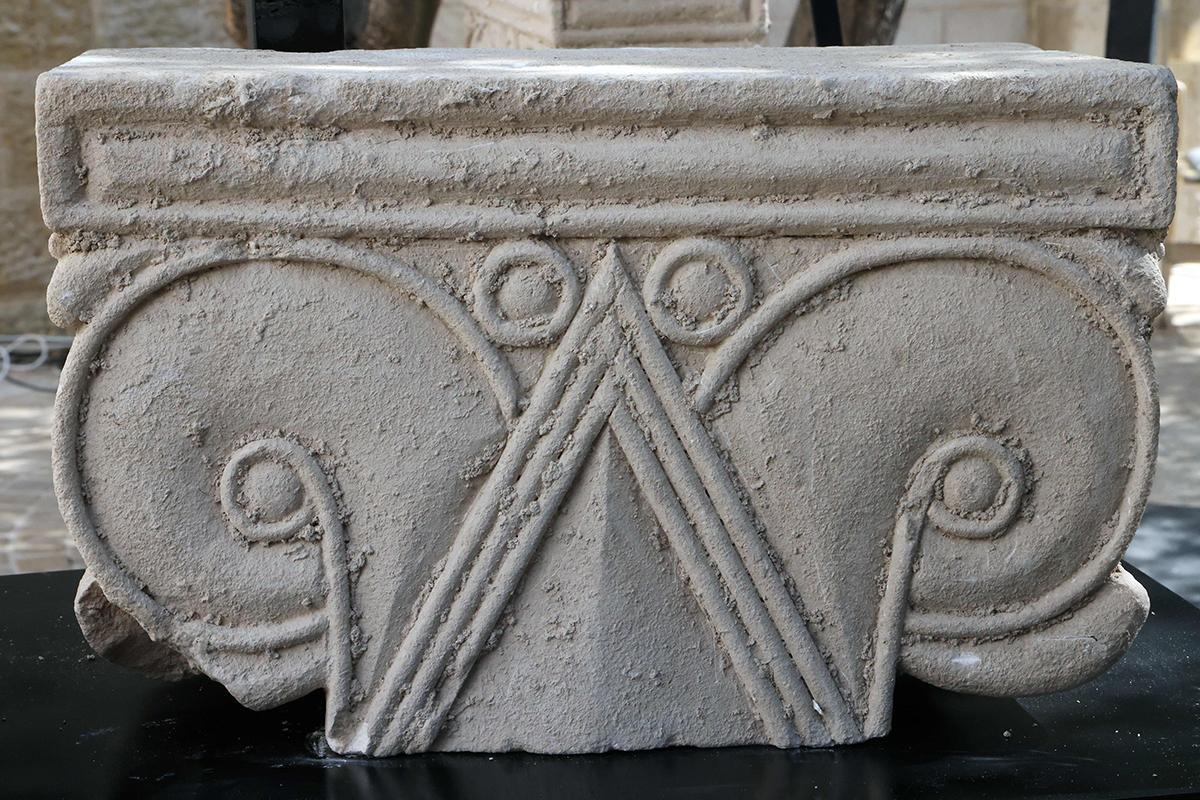 One of the column capitals found in Jerusalem