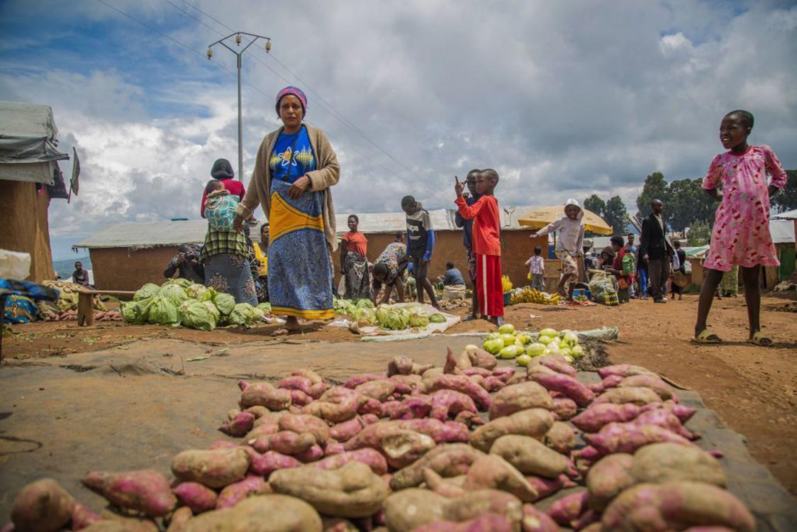 Refugees at the Gihembe refugee camp in Byumba, Rwanda