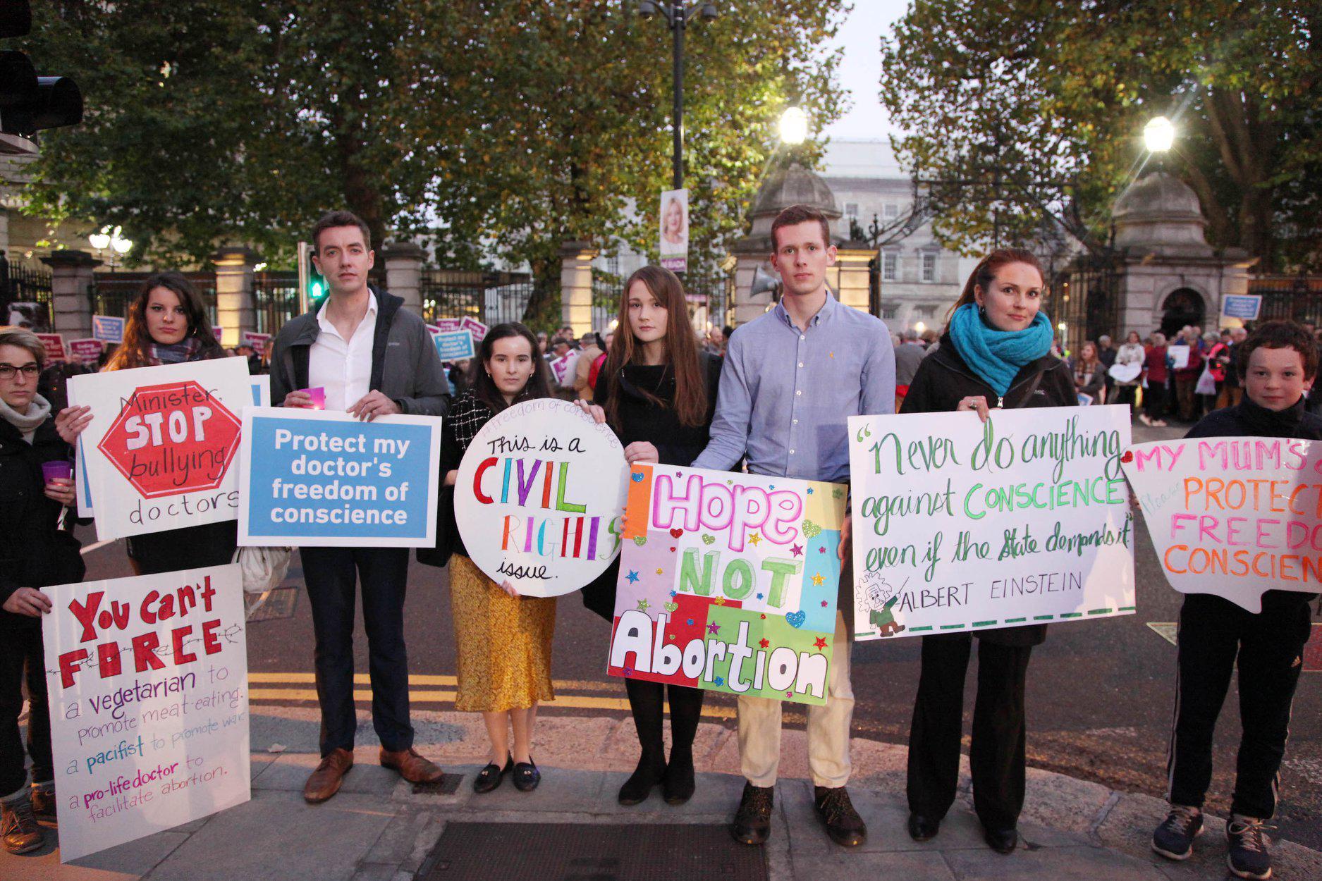 Irish pro-life demonstrators in October