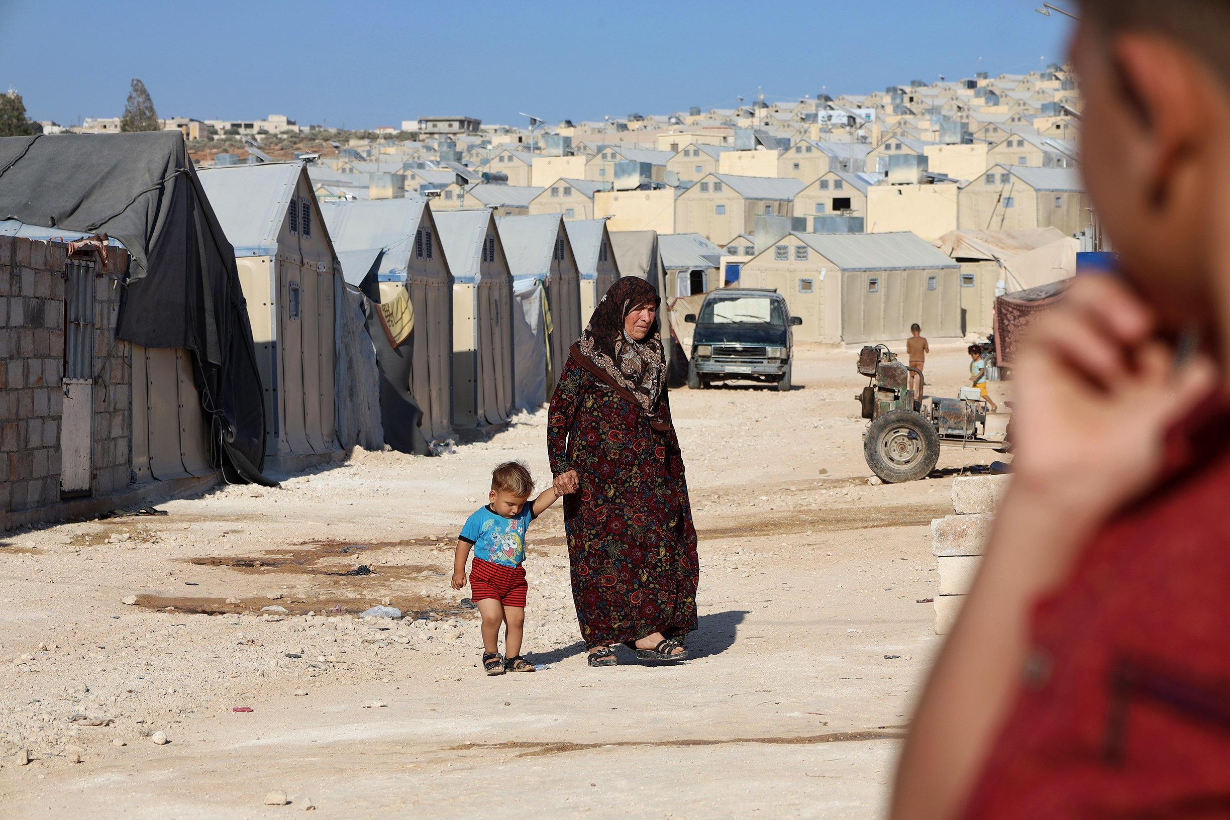 Daily life of displaced Syrians in Kafr Jales camp near the city of Idlib, northwest Syria, 2021
