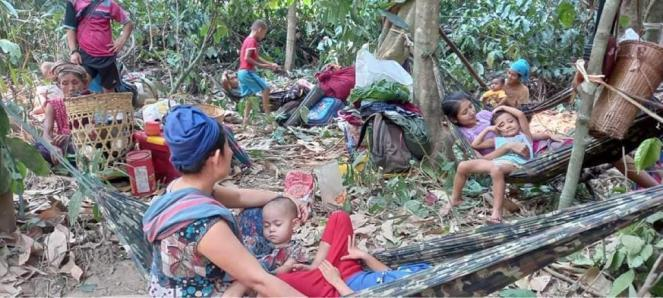 In Karen state, families hide beneath rocks to avoid government airstrikes