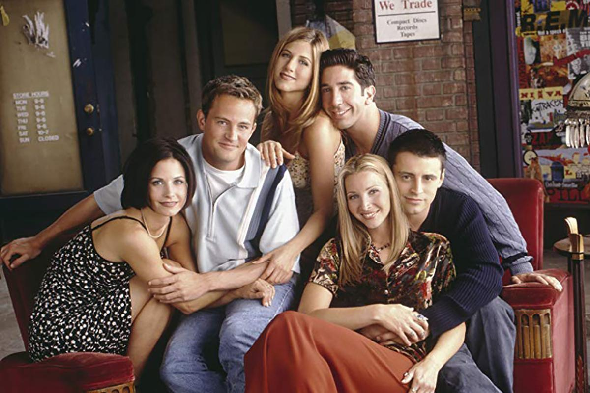 The cast of Friends in younger days
