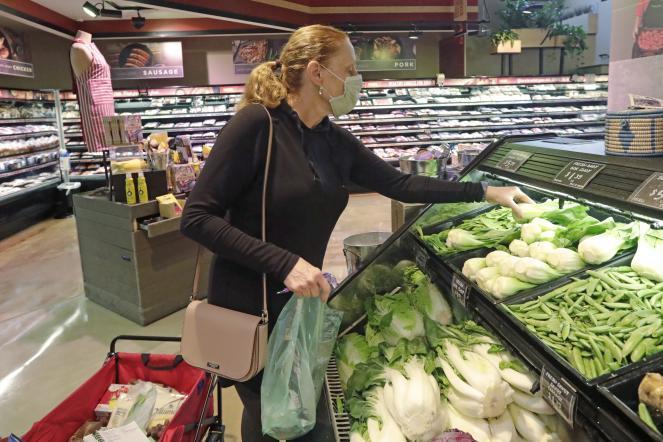 A shopper in a Utah grocery store
