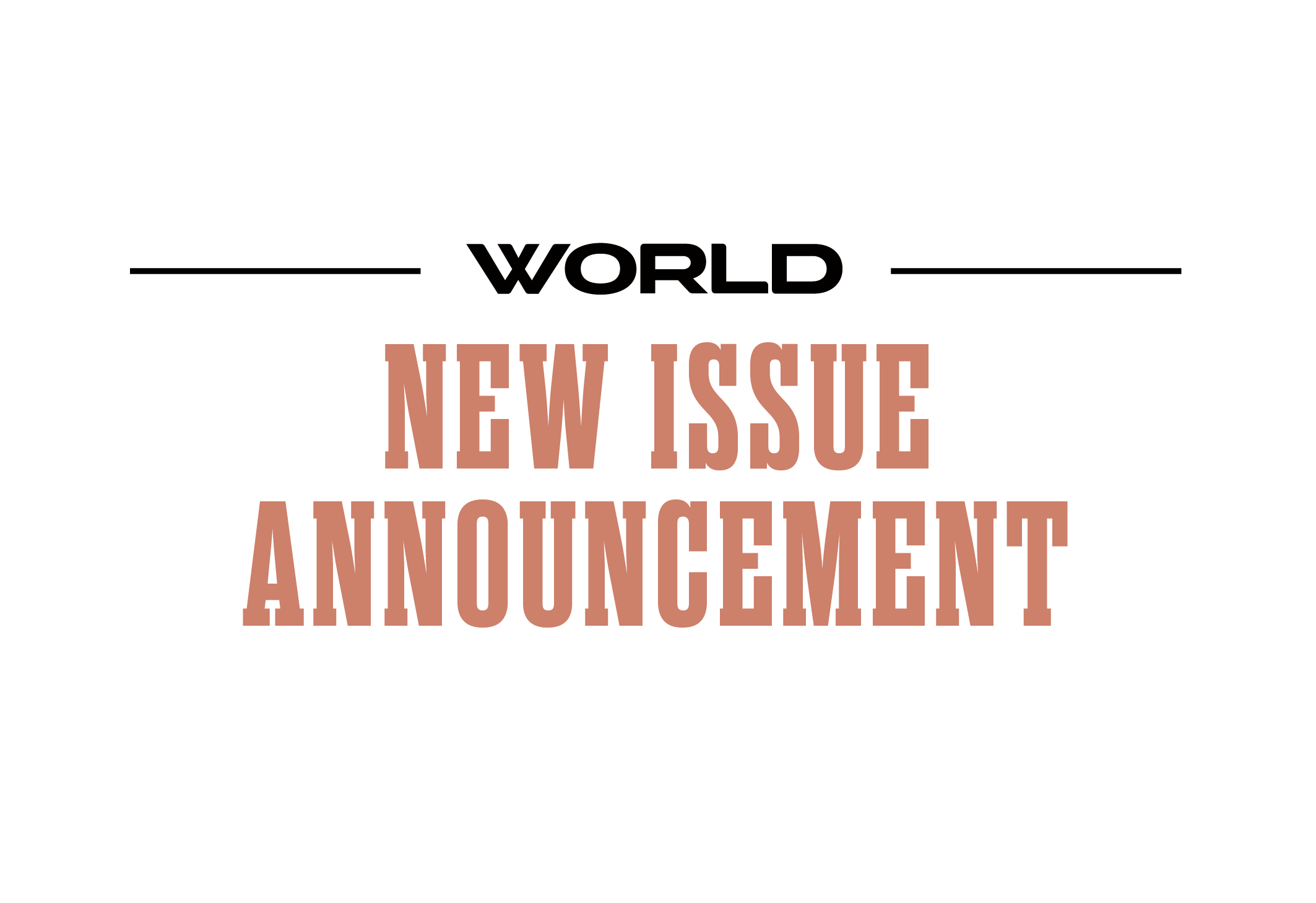 New Issue Announcement Image