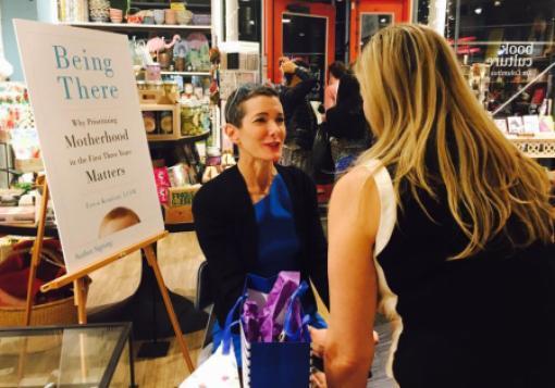 Erica Komisar at a book signing