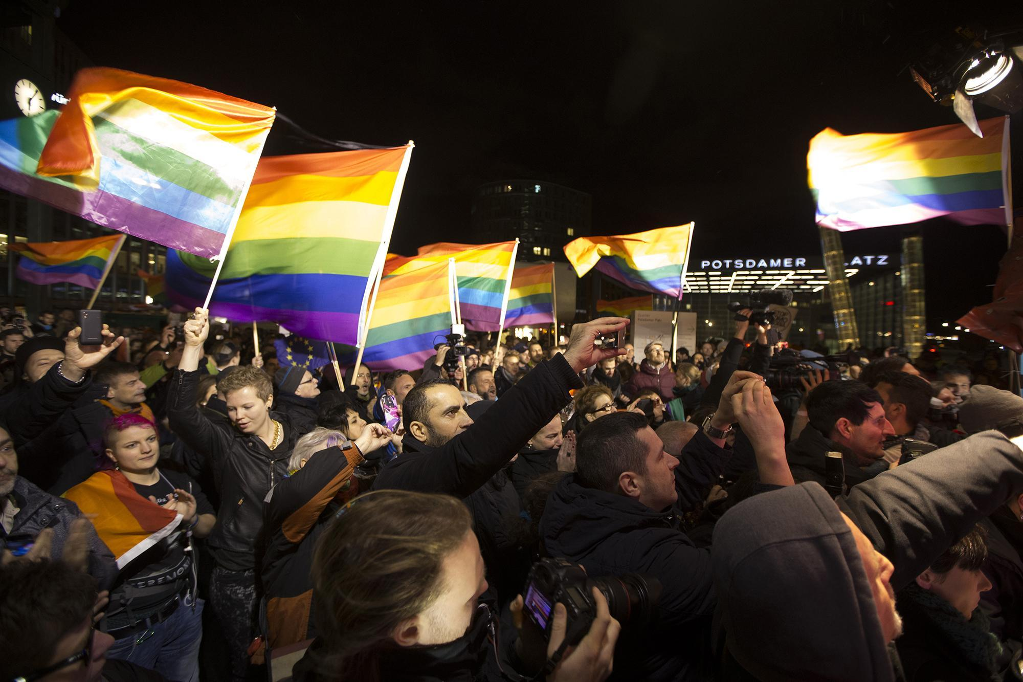 A pro-LGBT rally in Berlin