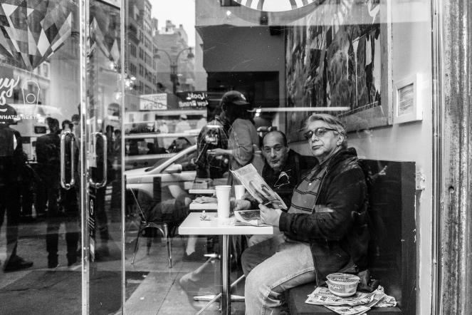 A Starbucks near Penn Station in New York City
