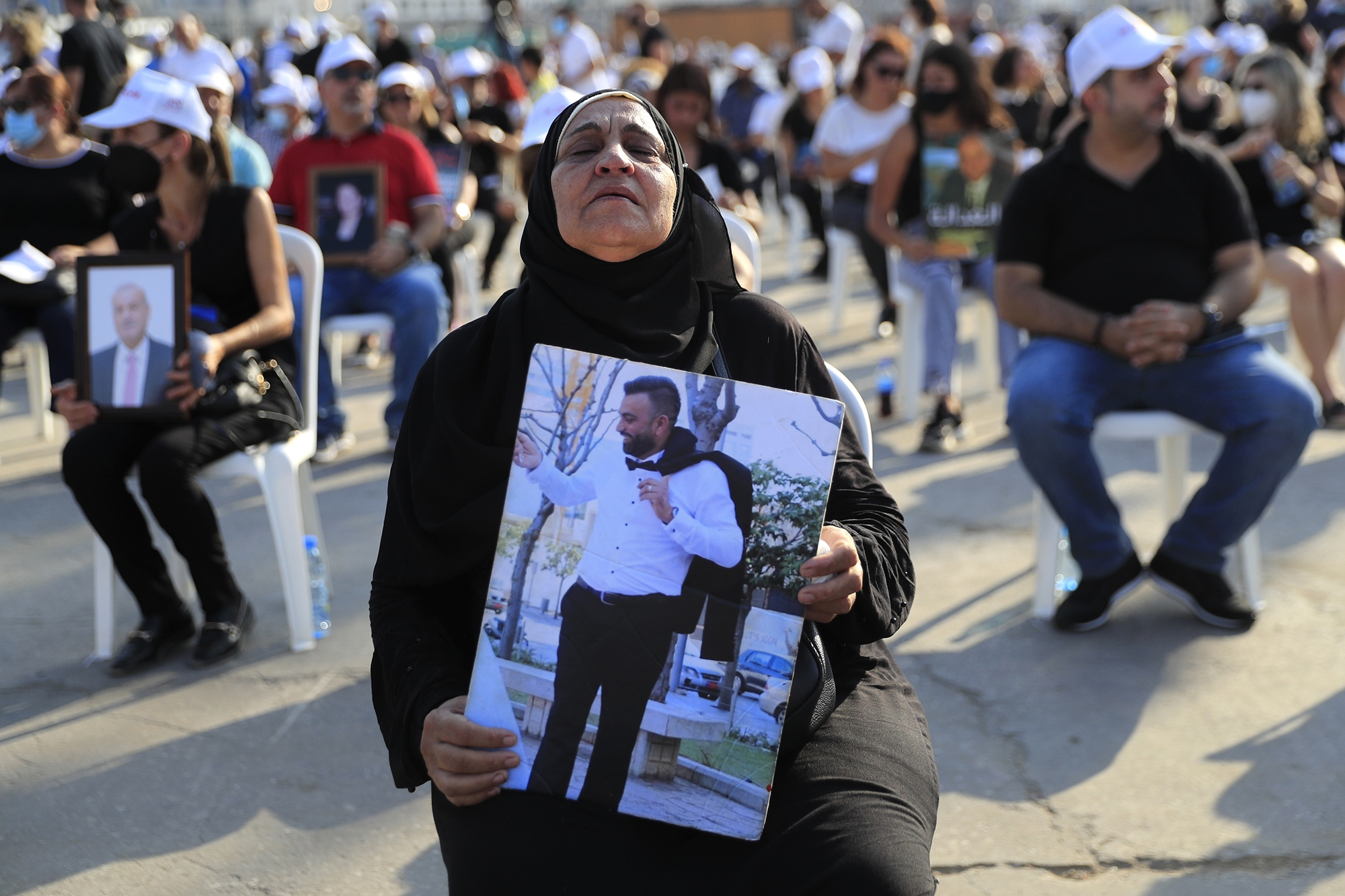 A memorial on Wednesday for the victims of an explosion in Beirut