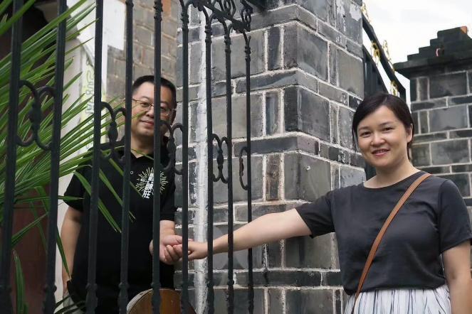 Pastor Wang Yi with his wife Jiang Rong in a photo taken before his sentencing.