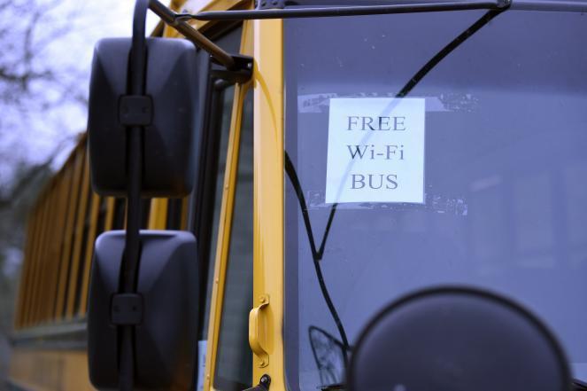 A Wi-Fi school bus in South Carolina