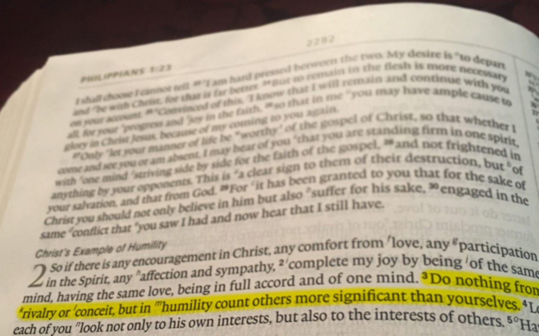 A Philippians 2 spotlight on my arrogant heart