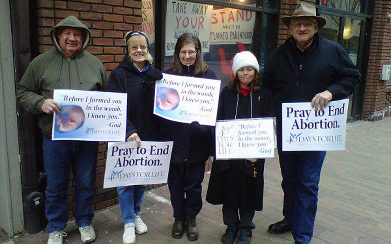 Inside voices outside abortion centers