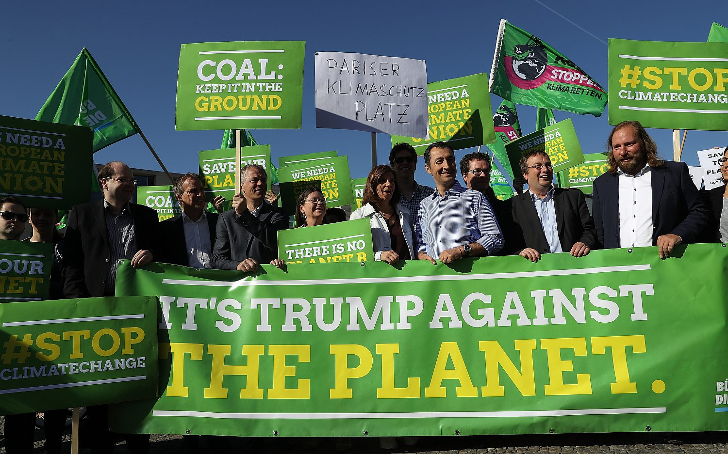 World leaders scold Trump for leaving Paris accord