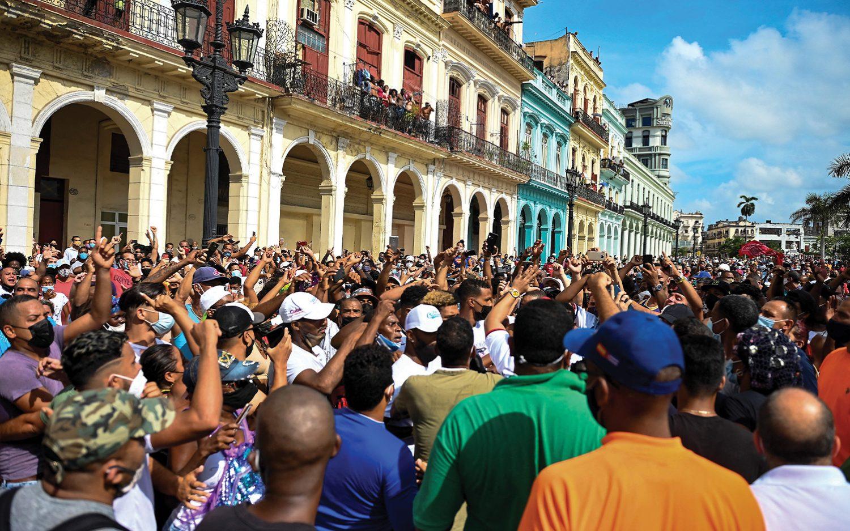 Cubans protest regime