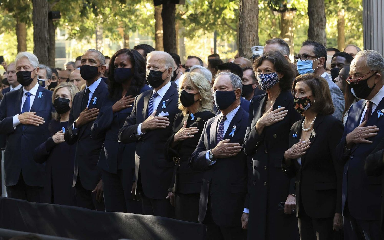 U.S. presidents mark 20 years since 9/11