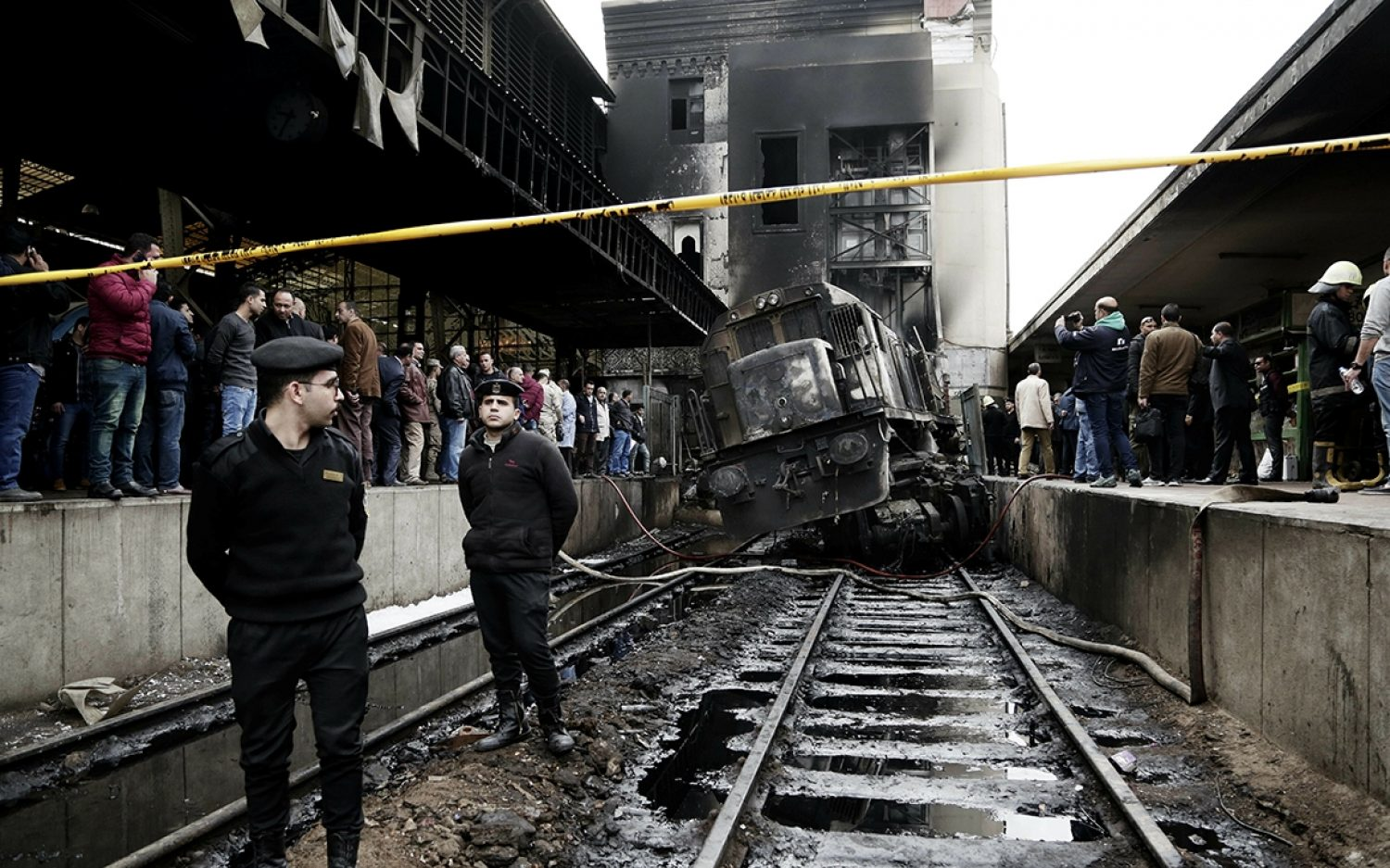 Fight led to fiery train crash in Cairo