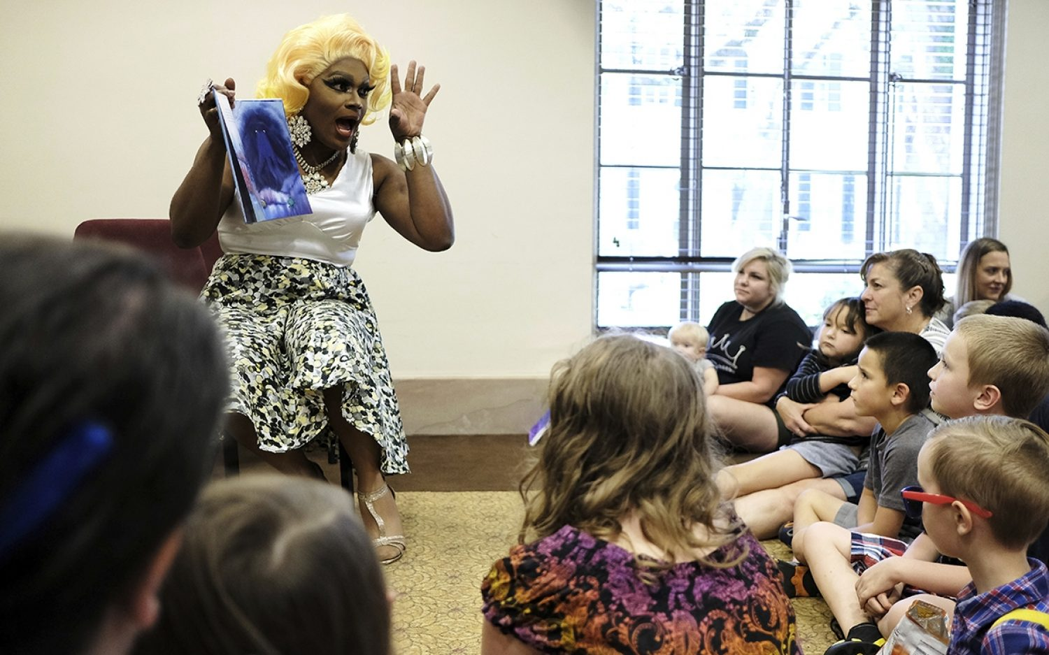 A pastor at drag queen story hour