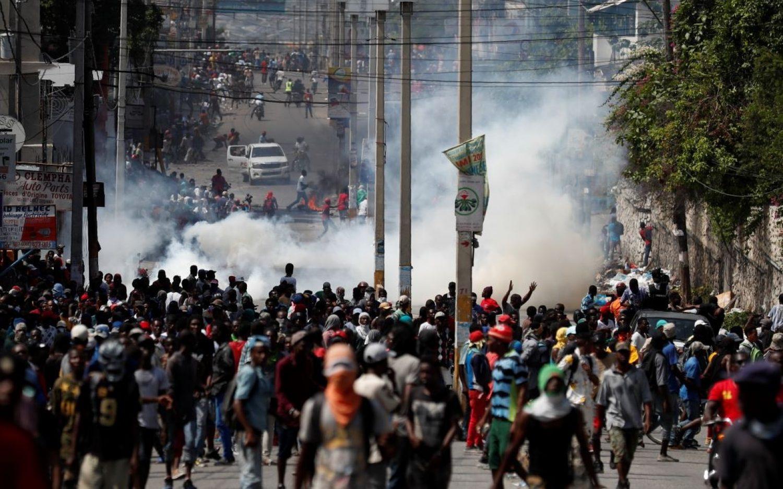 Mass protests cripple Haiti