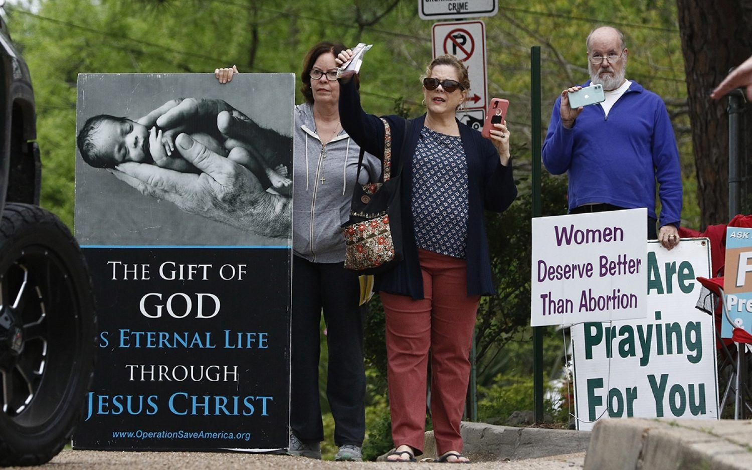 Ordering pro-lifers to stay at home