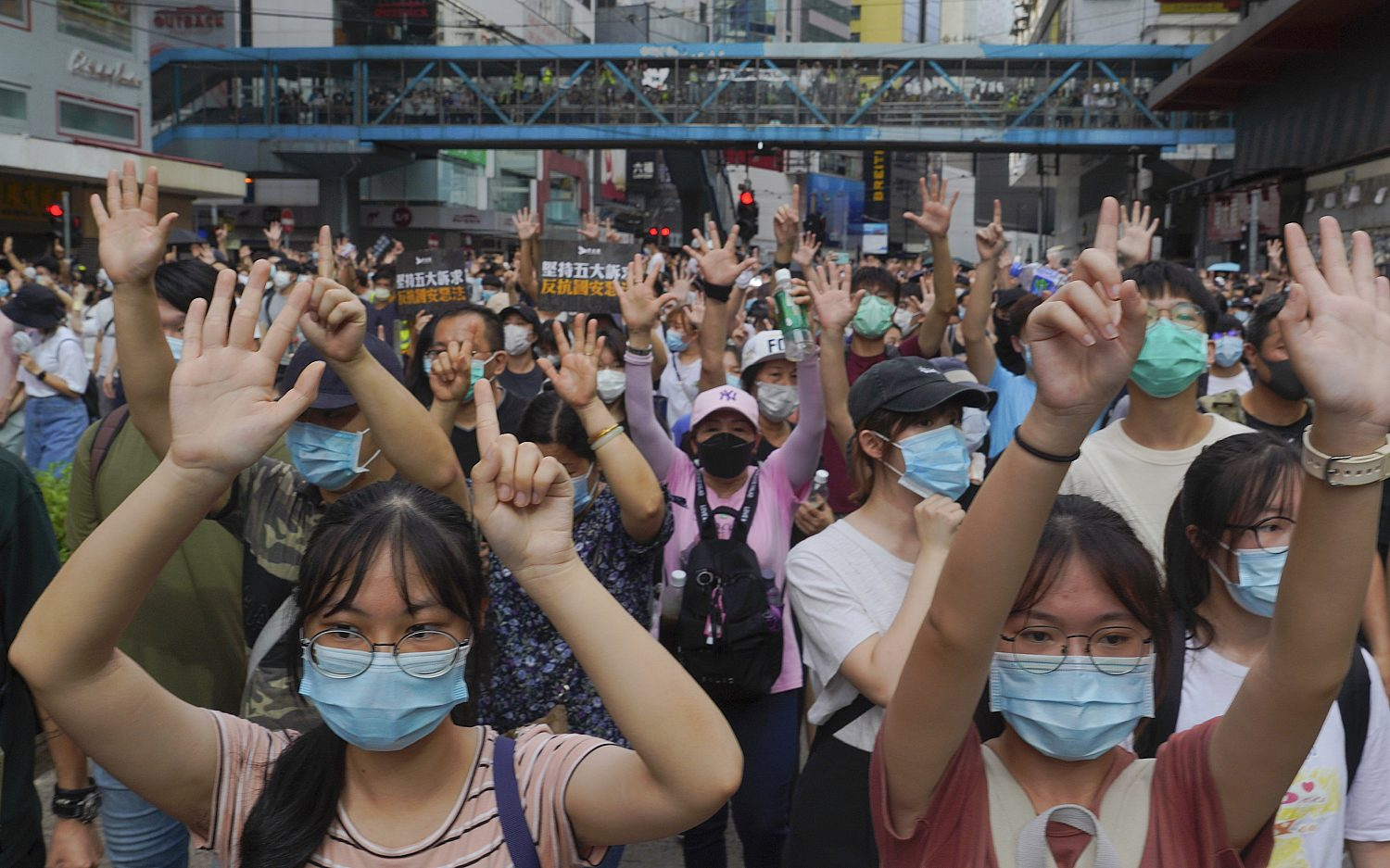 Hong Kong protesters decry new security law