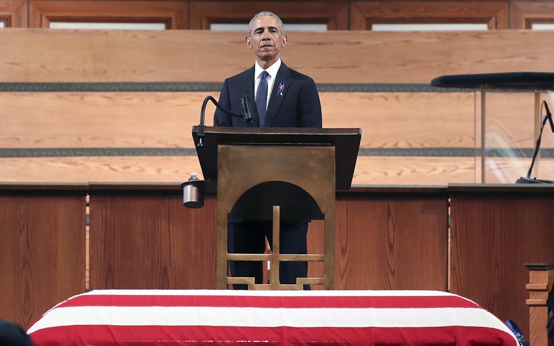 U.S. leaders honor Lewis